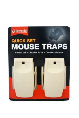 Rentokil Mouse Traps, Quick Set (Twin Pack)